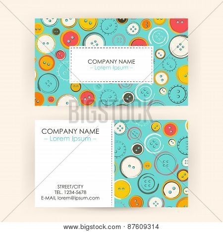 Business Card With Sewing Buttons