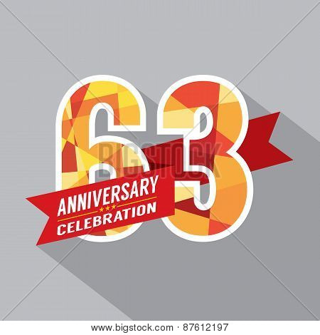 63Rd Years Anniversary Celebration Design.