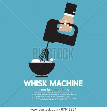 Cooking With Whisk Machine.