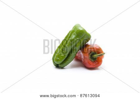 Fresh Red and Green Capsicum
