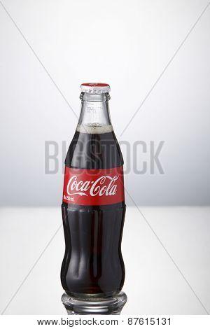 Kuala Lumpur,Malaysia 9th April 2015, bottle of Coca-Cola