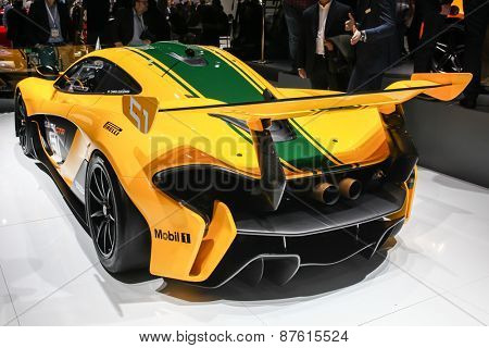 NEW YORK - APRIL 1: McLaren exhibit McLaren P1 at the 2015 New York International Auto Show during Press day,  public show is running from April 3-12, 2015 in New York, NY.