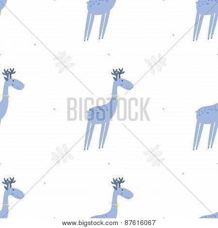 Seamless pattern deers