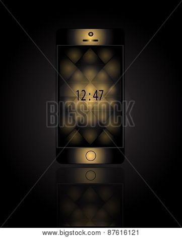 Mobile Phone Gold With Black Triangle