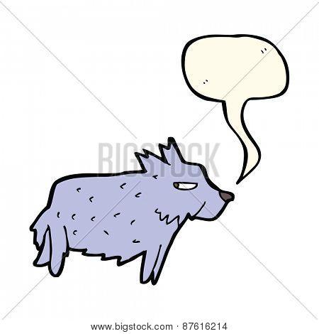 cartoon terrier with speech bubble