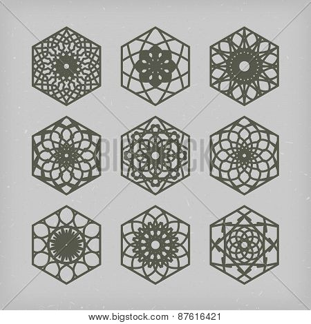 Hexagon Ornament Set