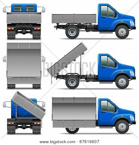 Vector Lorry Icons Set 4