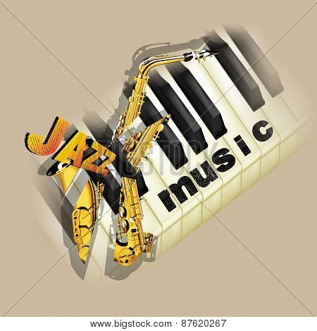 Jazz Music Background With Saxophone