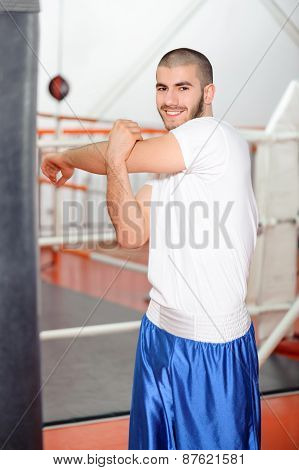 Sportsman in a boxing gym