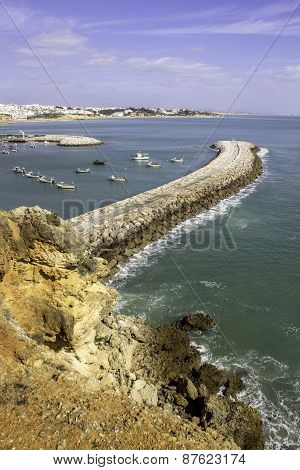 Albufeira Fishermen Marina And Beach, Algarve.