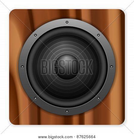 Wooden Sound Speaker Icon