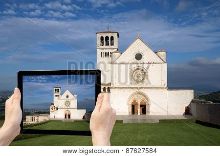 Travel To Assisi Concept