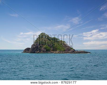 Rock Island On The Sea