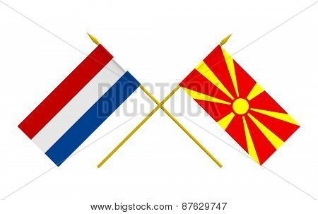 Flags, Macedonia And Netherlands