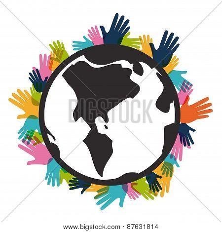 Multicultural Global design, vector illustration.
