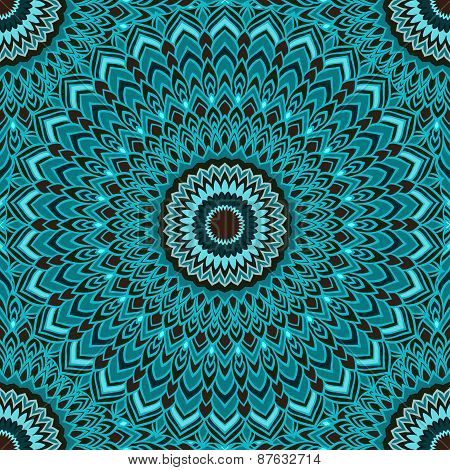 Bright Ornamental Floral Abstract Seamless Background With Many Details