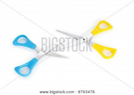 Pair Of Scissors Isolated On The White Background