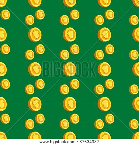Seamless Pattern With Coins And Hazelnuts-2