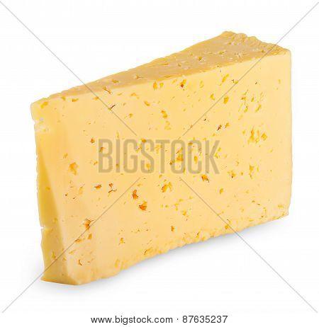 Triangular piece of fresh cheese