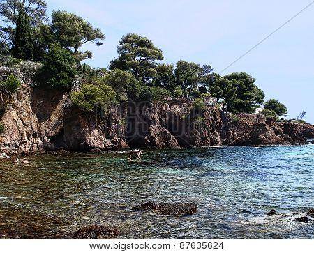 rocky coast Agay