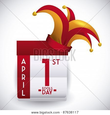 April fools day design, vector illustration.