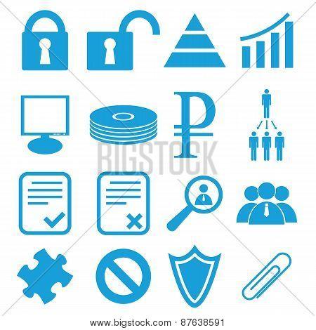 Webdesign symbols set