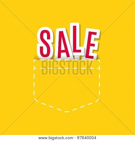 Sale Text Made Modern Trendy Design Template