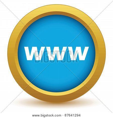 Gold www icon