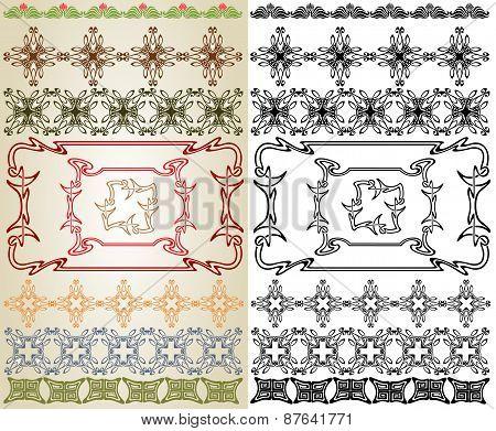 Art Nouveau Cross Element