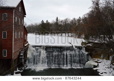 The Dells Mill and Museum in Winter