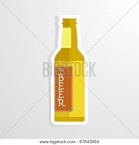 beer bottle cheers vector illustration