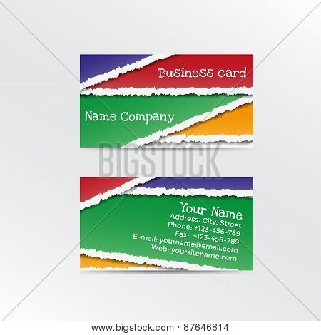 Realistic Torn Paper Business Card