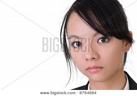 Face Of Asian Business Woman