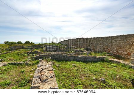 Ruins Of Ancient Fortress On Kaliakra Headland