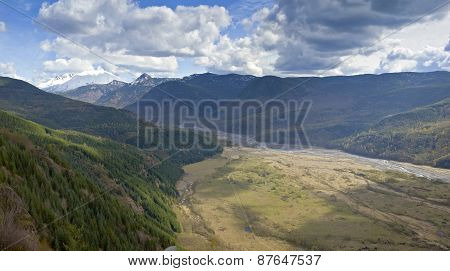 Surrounding Mountains And Landscape Near Mt. St. Helen's.