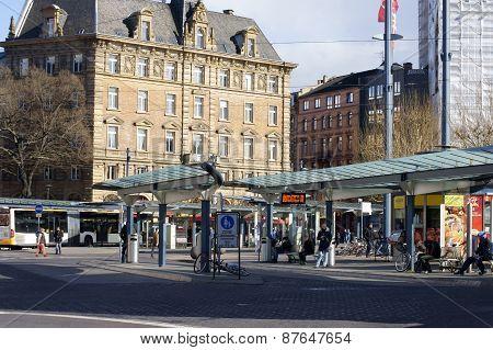 Bus stop Mainz