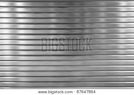 Shutters of metal
