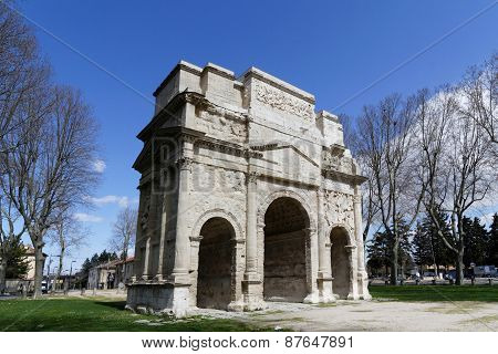 Roman Arch of Triumph in Orange
