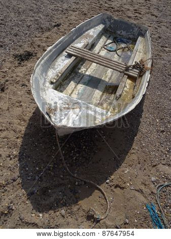 Weathered Boat Upon Beach