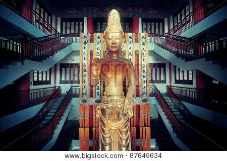 Guanyin statue in Chongsheng Monastery in Dali, Yunnan, China
