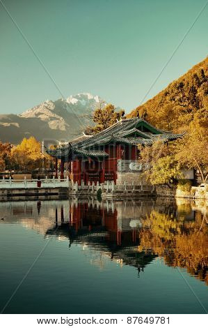 Black Dragon pool in Lijiang, Yunnan, China.