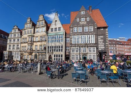 Cafes In The Old Town Of Bremen