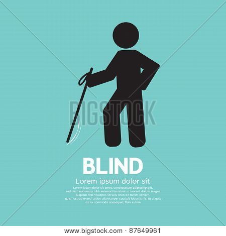 Blind Disabled Black Symbol.