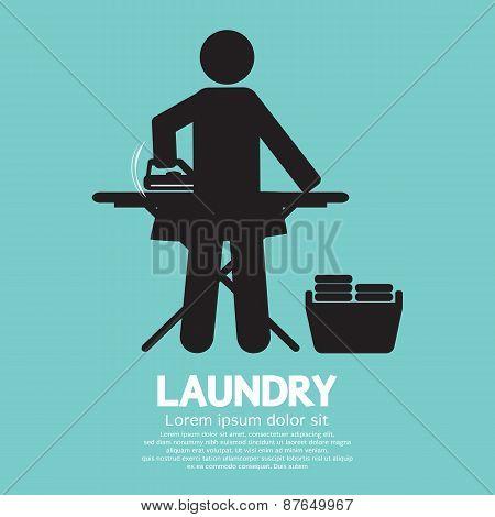 Laundry Black Symbol.