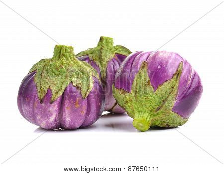 Eggplant Isolated On A Over White Background