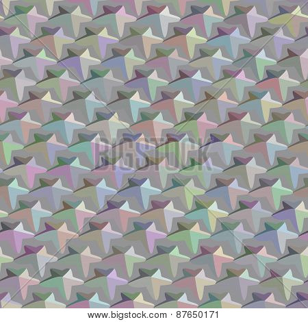 Abstract Seamless Pattern Consisting Of Multi-colored Stars.