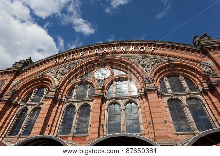 Main Train Station In Bremen