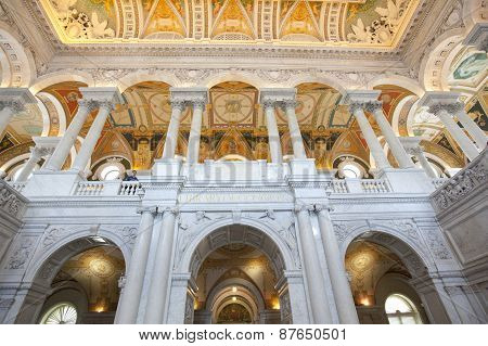 The Library Of Congress Building In Washington Dc