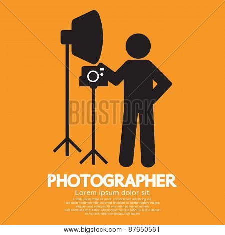 Photographer Graphic Symbol.