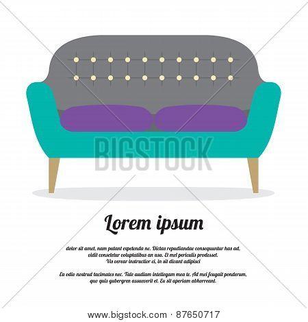Modern Sofa Vintage Style.
